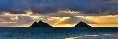 Lanikai Beach Sunrise Panorama 2 - Kailua Oahu Hawaii Poster by Brian Harig