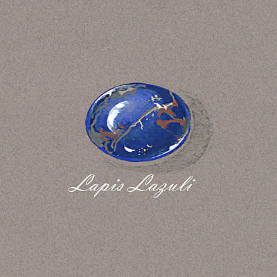 Lapis Lazuli Cabochon Poster by Marie Esther NC