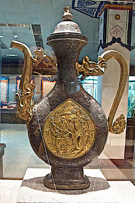 Large Ornamental Tea Pot In Tibet Museum In Lhasa-tibet     Poster by Ruth Hager