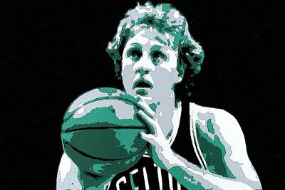 Larry Bird Poster Art Poster by Florian Rodarte