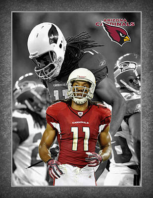 Larry Fitzgerald Cardinals Poster by Joe Hamilton