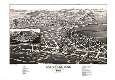 Las Vegas - New Mexico - 1882 Poster by Pablo Romero