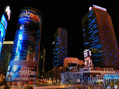 Las Vegas - Aria And Cosmopolitan 001 Poster by Lance Vaughn