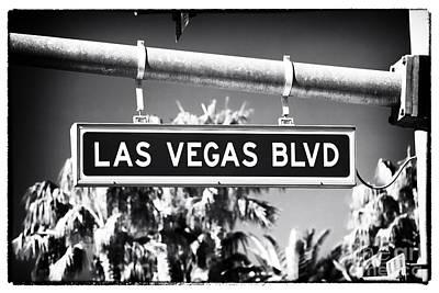 Las Vegas Boulevard Poster by John Rizzuto