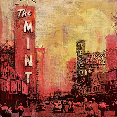 Las Vegas Collage 3 Poster by Corporate Art Task Force