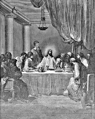Last Supper Biblical Illustration Poster by
