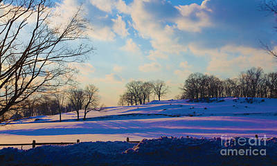 Late Afternoon Winter Poster by Dan Hilsenrath