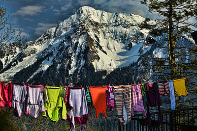 Laundry Day By Mount Cheam Poster by Lawrence Christopher