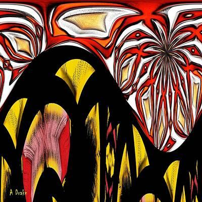 Lava Flow Poster by Alec Drake