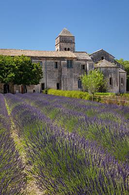 Lavender Below Saint Paul De-mausole Poster by Brian Jannsen