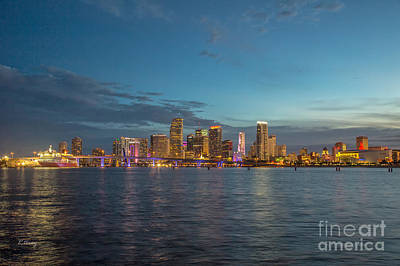 Le City-downtown Miami Poster by Rene Triay Photography