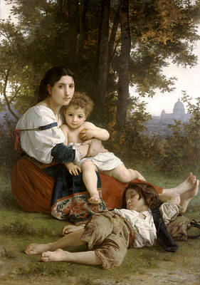 Le Repos The Rest Poster by William Bouguereau