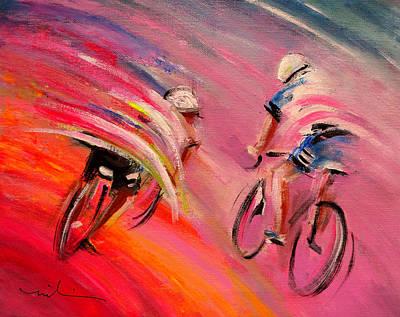Le Tour De France 15 Acrylics Poster by Miki De Goodaboom