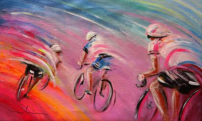 Le Tour De France 16 Acrylics Poster by Miki De Goodaboom