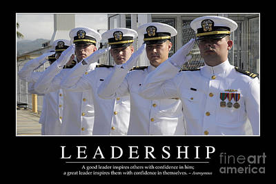 Leadership Inspirational Quote Poster by Stocktrek Images