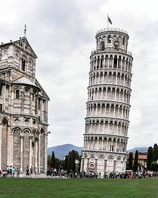 Leaning Tower Of Pisa And Cathedral Poster by Brian Gadsby