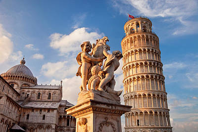 Leaning Tower Of Pisa And Duomo Santa Poster by Brian Jannsen