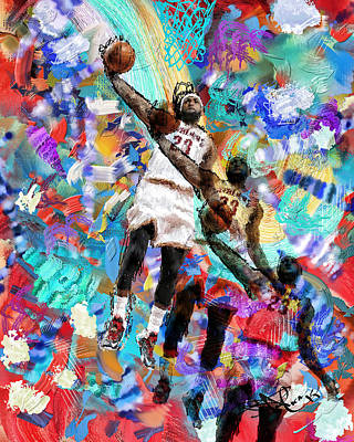 Lebron James Poster by Donald Pavlica