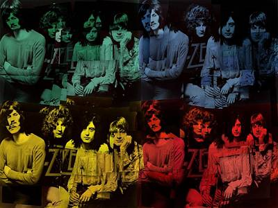 Led Zeppelin Pop Art Collage Poster by Dan Sproul