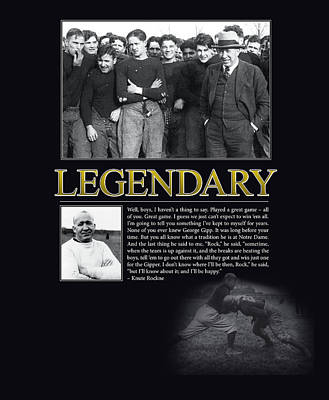 Legendary Knute Rockne Poster by Retro Images Archive