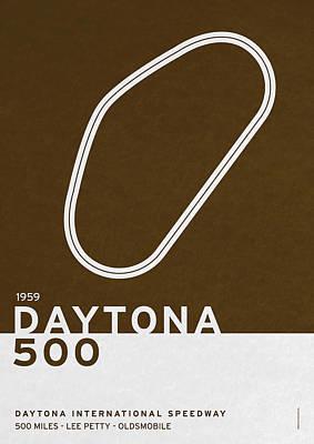 Legendary Races - 1959 Daytona 500 Poster by Chungkong Art