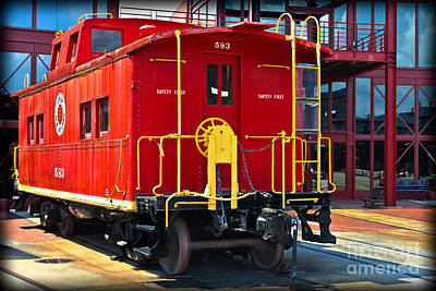 Lehigh New England Railroad Caboose 583 Poster by Gary Keesler