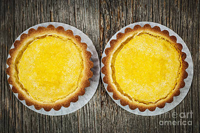 Lemon Tarts Poster by Elena Elisseeva