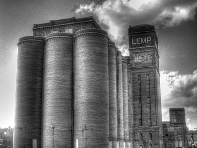 Lemp Brewery Black And White Poster by Jane Linders