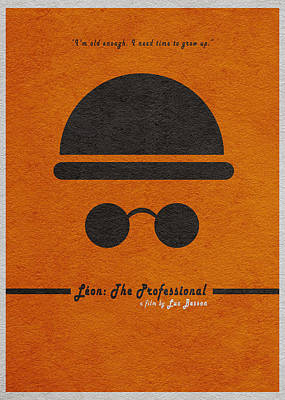 Leon The Professional Poster by Ayse Deniz