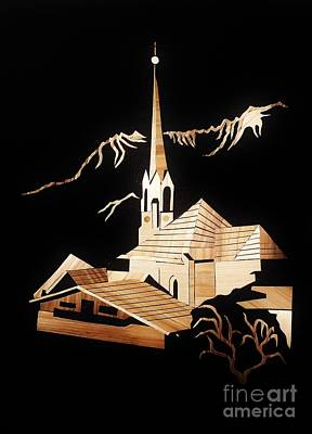 Leonhardi Church Poster by Straw Art