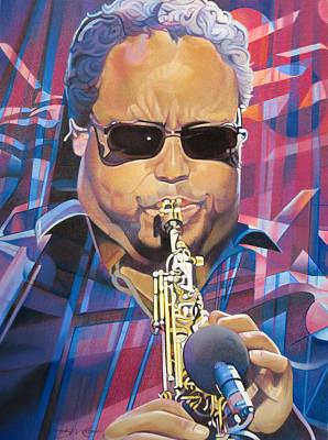 Leroi Moore And 2007 Lights Poster by Joshua Morton