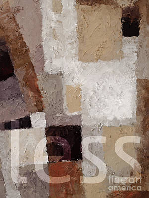 Less Poster by Lutz Baar