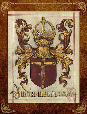 Lesser India - Ethiopia Medieval Coat Of Arms  Poster by Serge Averbukh