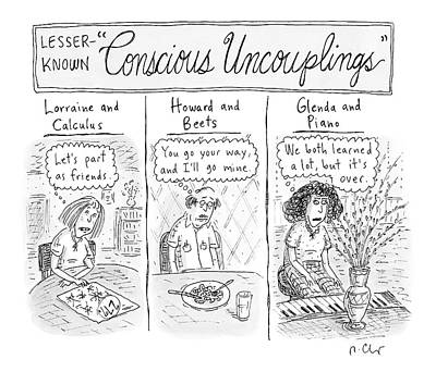 Lesser-known 'conscious Uncouplings Three Panels Poster by Roz Chast