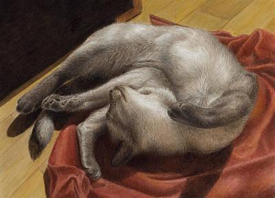 Let Sleeping Kitties Lie Poster by Pat Erickson