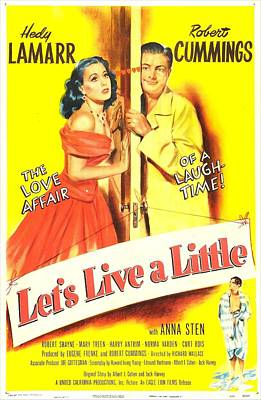 Lets Live A Little, Us Poster, Hedy Poster by Everett
