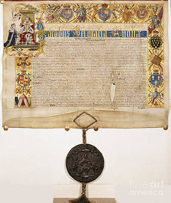 Letters Patent Of James I Poster by British Library