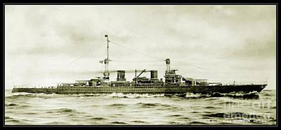 Lexington Class Battle Cruiser Poster by Jon Neidert