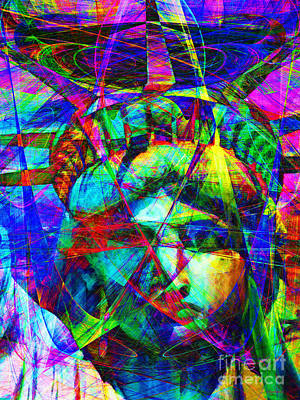 Liberty Head Abstract 20130618 Poster by Wingsdomain Art and Photography