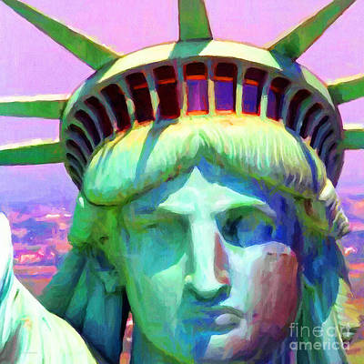 Liberty Head Painterly 20130618 Square Poster by Wingsdomain Art and Photography
