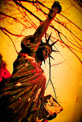 Bloodied Liberty Poster by Josh Brown