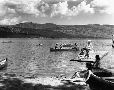 Liberty Lake Summer Leisure In 1940 Poster by Daniel Hagerman
