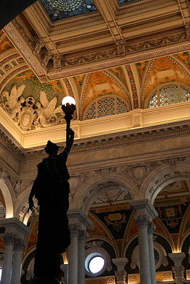 Library Of Congress - Washington Dc - 01134 Poster by DC Photographer