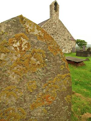 Lichen On Gravestone In Unpolluted Air Poster by Cordelia Molloy