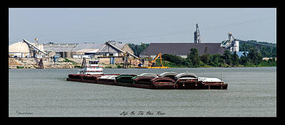 Life On The Ohio River 2 Poster by David Lester