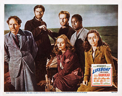 Lifeboat, Us Lobbycard, Clockwise Poster by Everett