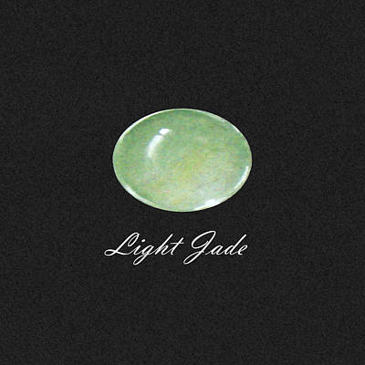 Light Jade Black Poster by Marie Esther NC