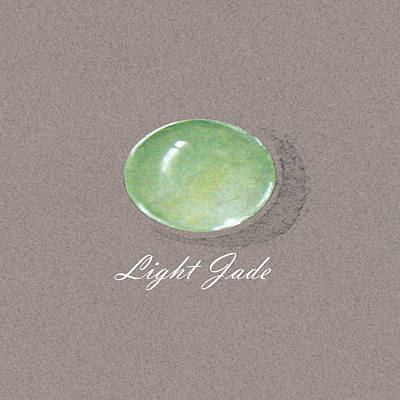 Light Jade Cabochon Poster by Marie Esther NC
