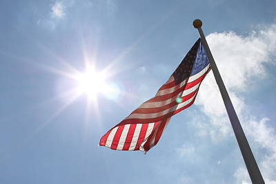 Light On Old Glory Poster by Hope Williamson