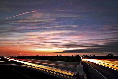 Light Speed Sunset Poster by Matt Molloy